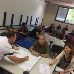 Grupos de trabajo en las jornadas de formación en Fundación Picarral